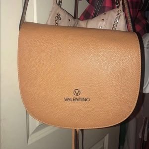 Valentino light tan crossbody comes with cover
